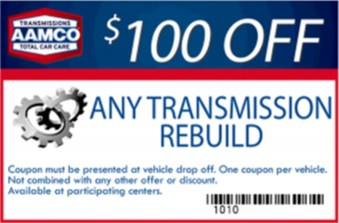 $100 off transmission rebuilds